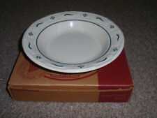 "Longaberger Pottery, ""Salad Bowl"" Heritage Green, 8""Rd, Made In Usa, New In Box"
