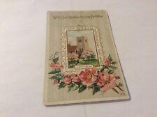 Vintage Paper Ephemera, Postcard, Birthday Wishes