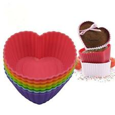 Silicone Heart Shape Muffin Cookie Cupcake Tin Baking Mold Jelly Baking Mould-LG