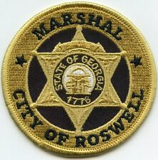 ROSWELL GEORGIA GA MARSHAL POLICE PATCH
