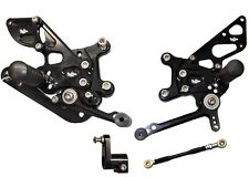 2009-2010 Aprilia RSV4 VooDoo Fully Adjustable Billet Rearsets Black