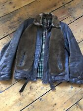 Vintage 1930's Grizzly Horsehide Leather Jacket.38 Chest