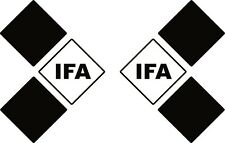 IFA Symbol Aufkleber 2 Stück Trabant Trabi Simson Oldtimer DDR