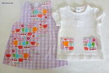 DPAM***ensemble Robe et T-shirt/dress 3 mois Vichy mauve et blanc
