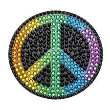 Rhinestone Sticker Decal Rainbow Peace symbol Emogi 2 in bling Stickerbeans