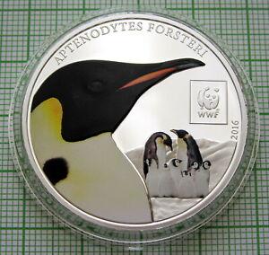 TANZANIA 2016 100 SHILLINGS, Emperor Penguin - WWF SERIES, COLOURED IN CAPSULE