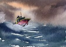 Original Miniature Painting 'Homeward Bound ' by Bill Lupton ACEO