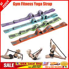 Gym Fitness Yoga Pilates Stretch Strap Belt Physical Training Resistance Band US