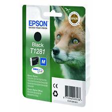 Epson T1281 Fox Black Ink Cartridge (C13T12814010) Stylus S22 SX125 SX130 SX235