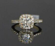 Anelli con diamanti naturale J in oro giallo