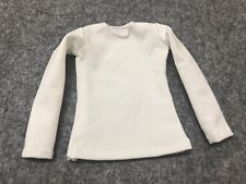 "Tight White Long Sleeve Female T-Shirt Simple Top 1/6 F 12"" HT PH TB Girl Figure"