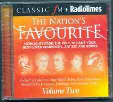 NATION'S FAVOURITE VOL 2: CLASSIC FM CD (2008) BEST LOVED COMPOSERS, ARTISTS ETC