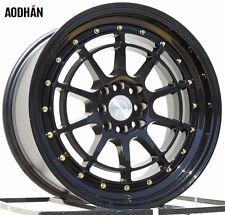 AODHAN AH04 17X9 4X100/114.3 ET25 FULL BLACK FITS CIVIC CRX 200SX MR2 XA CELICA