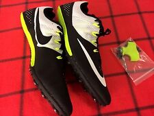 NWB NIKE RACING RIVAL S SPRINT MENS 15 BLACK/WHITE/GREEN ATHLETIC SNICKER SHOE