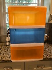The Container Store Storage bins. Great for stacking and kids rooms!