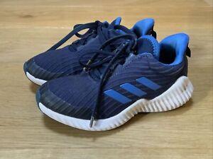 Adidas Fortarun Kids Cloudform Running Trainer Blue UK10 Kids VGC
