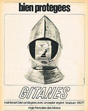 PUBLICITE ADVERTISING 114  1964  GITANES   cigarettes  papier argent