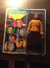 5 1974 Mego Star Trek Figures MOC Kirk Spock Uhura Klingon Scotty 2 Signed FZ