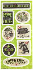 Chuy's TexMex Restaurant Green Chile Festival 2016 Sticker Sheet (8 stickers)
