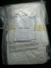 "Pottery Barn Kids Sadie Ruffle Bed Skirt Full White 16"" Drop #1365"
