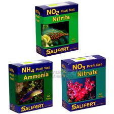 SALIFERT TEST KIT SET MARINE REEF SALTWATER CORAL AQUARIUM FISH TANK NH3 NO2 NO3