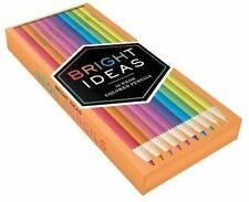 Bright Ideas Neon Colored Pencils Chronicle Books Kit 9781452154787