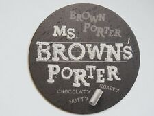 Beer Coaster ~ RUSTY NICKEL Brewing Co Ms Brown's Porter ~ West Seneca, NEW YORK