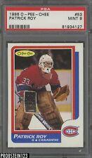 1986 O-Pee-Chee OPC Hockey #53 Patrick Roy Montreal Canadiens PSA 9 MINT