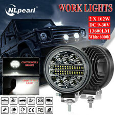 "2pc 4""inch 102W LED Work Light Bar 4WD Off Road Jeep SPOT Flood Driving Fog Lamp"