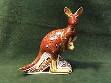 ROYAL CROWN DERBY 1999 Bone China Kangaroo Australian Figurine Paperweight