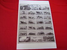 1901 - 1953 FORD EVOLUTION OF CARS     BIG  11 X 17  PHOTO   PICTURE