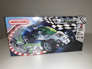 MECCANO TURBO RACE CAR-2 Models-90+ Parts-#3350A-BRAND NEW IN BOX - SEALED
