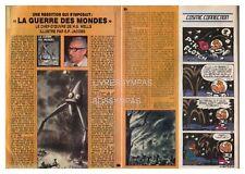 1986 DOCUMENT (ref Lim 0577)  LA GUERRE DES MONDES E.P JACOBS  2 pages