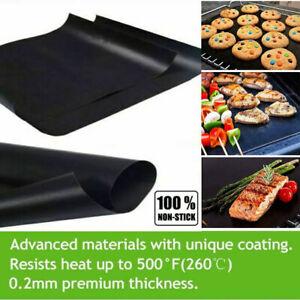 2X Heavy Duty Oven Liner BBQ Sheet Mat Non Stick Reusable Cooker