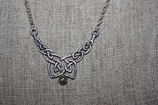 925 Sterling Silver Chain Necklace with Celtic Knot Pendant