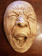 Plaster pulling face wall decorative plaque home garden funny ornament handmade