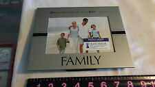 SILVER FAMILY PICTURE FRAME BY LIGHTHOUSE CHRISTAIN PRODUCTS 4' X 6'