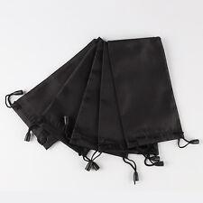 10 Pcs New Black Fashion Black Sunglasses Eyeglasses Cloth Pouches Bags UK