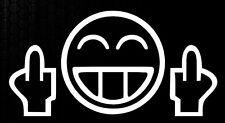 1x Shocker Smiley Mittelfinger OEM Auto Aufkleber Sticker JDM Fuck You Kult xxx