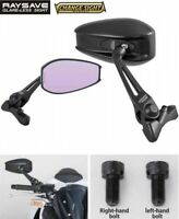 TANAX RAYSAVE Glare-Less Cowling Short Mirror Wide-Angle AEX7B for Motorcycle