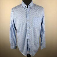 Vineyard Vines Blue Slim Fit Murray Shirt Long Sleeve Button Down Shirt Mens L