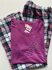 Jenni Intimates Women's 2-Piece Pant Pajama Set, You Me Oui, Mismatched Sizes