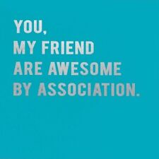 CLOUD 9 NINE GREETING CARD: AWESOME BY ASSOCIATION (CLN18)  - NEW IN CELLO
