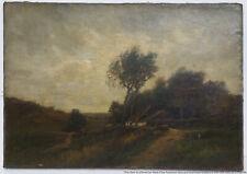 Antique Richard Pauli American Barbizon Victorian Cottage Landscape Painting
