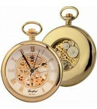 Woodford Gold Plated 17 Jewel Mechanical Open Face Pocket Watch