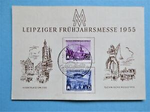 """Sonderkarte """"Leipziger Frühjahrsmesse 1955"""" Mi:447/48  mit SST"""
