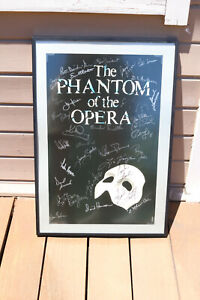 Phantom Of The Opera Poster Signed By Cast 1988 Poster Framed