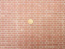 Bedford Brick Wallpaper DIY A3 29.7cm x 43cm Tumdee Dolls House Miniature WP547