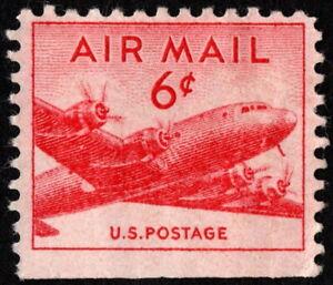 US - 1949 - 6 Cents Carmine DC-4 Skymaster Airplane # C39 Mint Booklet Single
