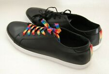 Kenneth Cole Size 12 KAM Pride Black Men's Shoes Leather Fashion Sneakers Shoes